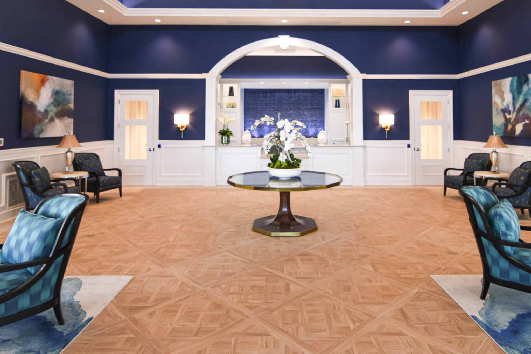 Elegant reception area